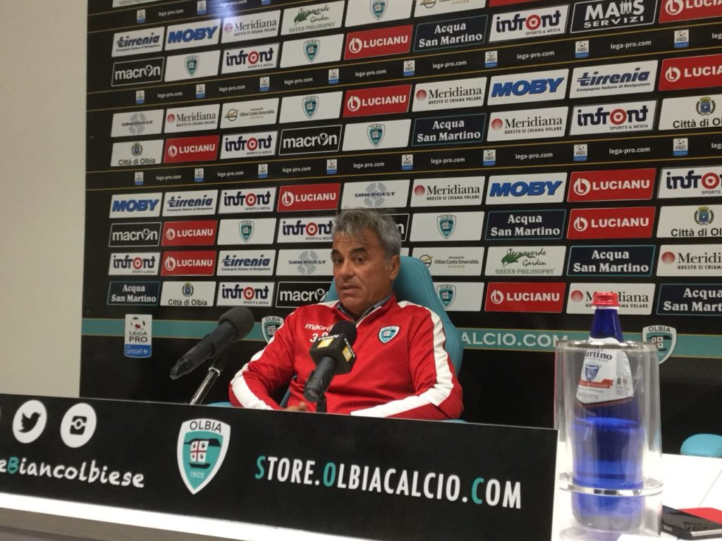 Bernardo Mereu in conferenza stampa