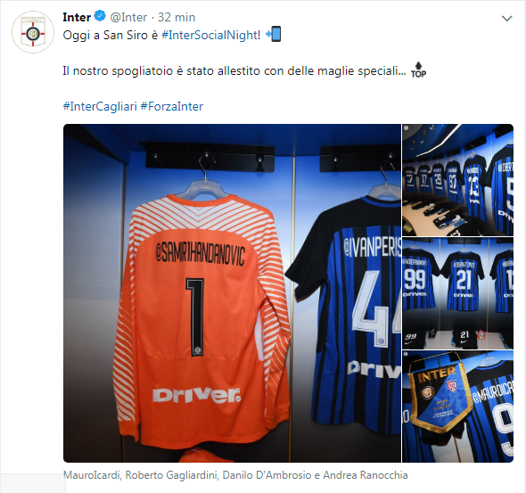 Il tweet dell'Inter