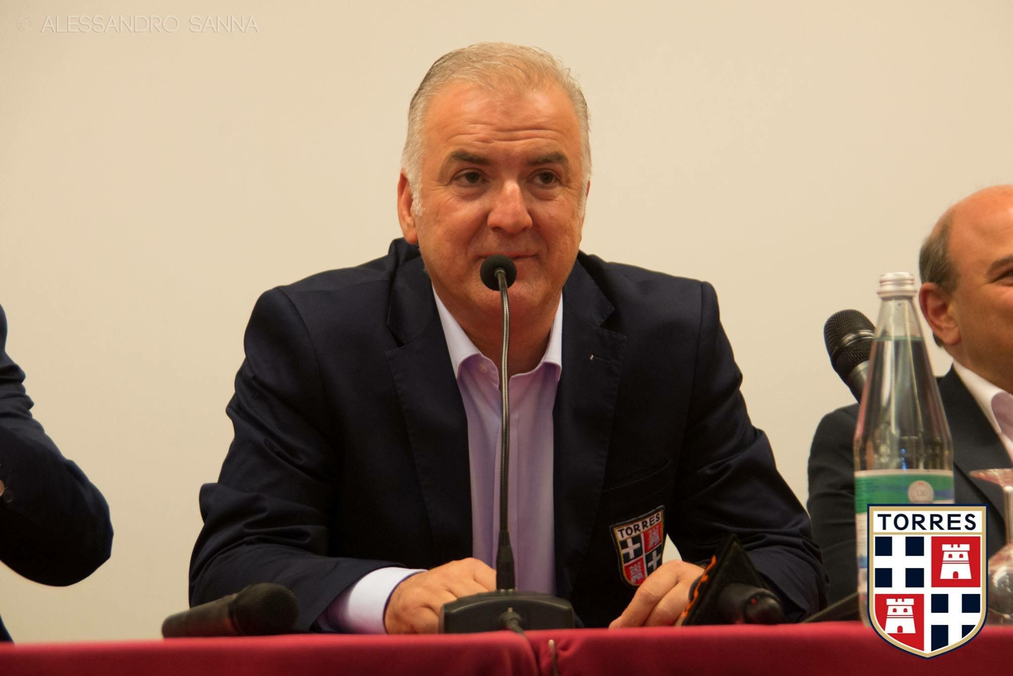 Salvatore Sechi, presidente della Torres (foto: seftorrescalcio)